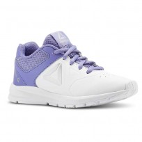 Reebok Rush Runner Running Shoes For Girls White/Silver (516FBHQE)