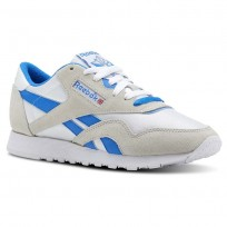 Reebok Classic Nylon Shoes Womens Archive-White/Cycle Blue (522PEUFV)