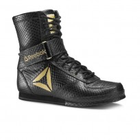 Reebok Boxing Tactical Shoes Mens Black/Gold (524NZPVY)