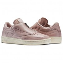 Reebok Club C 85 Shoes Womens Shell Pink/Paper White/Met Silver/Chalk (525BPAVK)