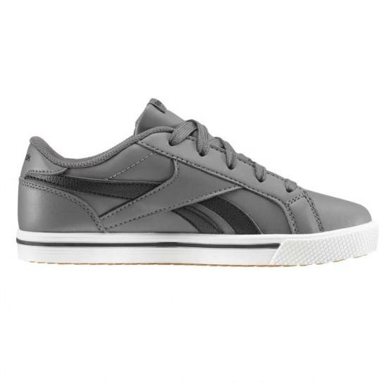 Reebok Royal Comp Shoes Boys Ash Grey/Black/Gum (530NQTUP)