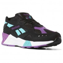 Reebok Aztrek Shoes Mens We-Black/Solid Teal/Abergine/White/Skull Grey (532JKCEQ)