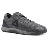 Reebok CrossFit Nano Shoes Mens Tin Grey/Sharkash Grey/Dark Silver (532SVBKD)
