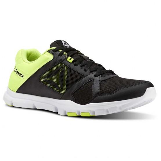 Reebok YourFlex Train 10 Training Shoes Mens Black/Solar Yellow/White (533LPSAZ)