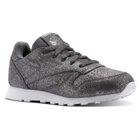 Reebok Classic Leather Shoes For Girls Grey/White (538GDCOM)