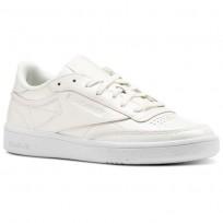 Reebok Club C 85 Shoes Womens White (539ZOGBW)