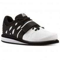 Reebok Lifter PR Shoes Mens White/Black (549IZGQE)
