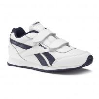 Reebok Royal Classic Jogger Schoenen Kinderen Wit/Donkerblauw (551EAOCU)