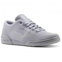 Reebok Workout Shoes Womens Cloud Grey/White (560ZOMKA)