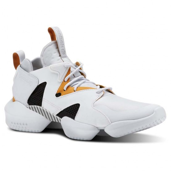 Reebok 3D OP. Shoes Mens Legacy-Spirit White/Opus Gold/Blk (563KALBH)