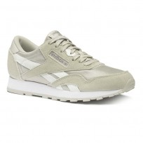 Reebok Classic Nylon Shoes For Boys Grey/Silver (573OBCGD)