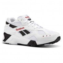 Reebok Aztrek Shoes Mens Bw-White/Black/Excellent Red (594BITMR)