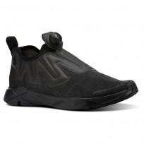 Reebok Pump Supreme Lifestyle Shoes Mens Black/Ash Grey (594MHLVW)