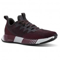 Reebok Fusion Flexweave Running Shoes Womens Smky Vlcano/Twstd Berry/Rustic Wine/Coal/Wht (598NQKIM)