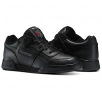 Reebok Workout Plus Shoes Mens Black/Charcoal (599HPWOA)