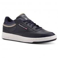 Reebok Club C 85 Shoes Mens Sptlt-Collegiate Navy/Cool Shadow (600YSQEI)