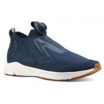 Reebok Pump Supreme Lifestyle Shoes Mens Utl-Mineral Blue/Prchmnt/Spr Ntrl/Chlk/Ch Grn (601AXNDH)