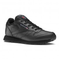 Reebok Classic Leather Shoes Kids Black (601VKYSH)