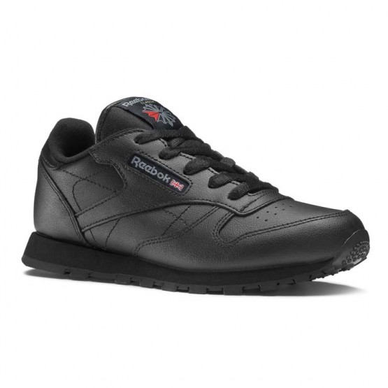 Reebok Classic Leather Shoes For Kids Black (601VKYSH)