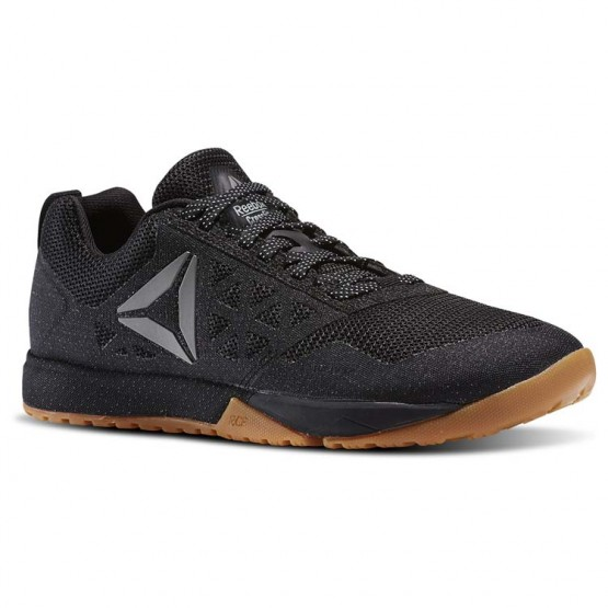 Reebok CrossFit Nano Shoes Mens Black/Gum/White/Pewter (604TQAZJ)