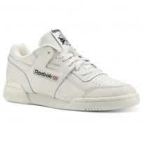 Reebok Workout Plus Shoes Mens Vintage-Chalk/Black (606GUQYH)