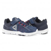 Reebok YourFlex Train Training Shoes Boys Washed Blue/Night Navy/Primal Red/Pewter (606TDMVB)