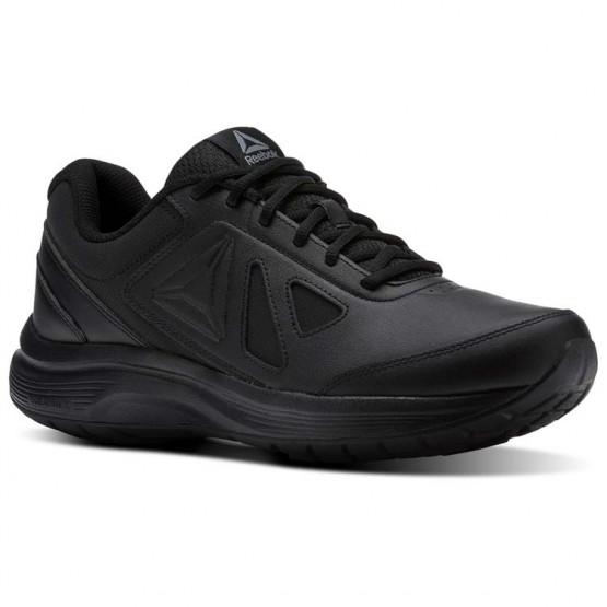 Reebok Walk Walking Shoes Mens Black/Alloy (607NOFJL)
