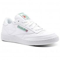 Reebok Club C 85 Shoes For Men White/Green/Red (609CTBJA)