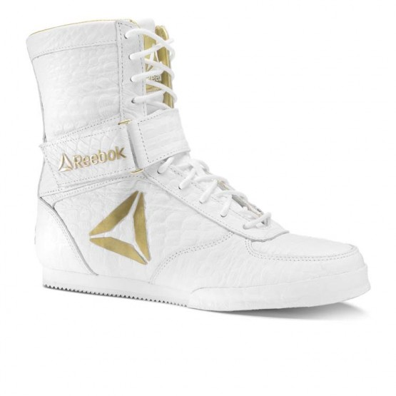 Reebok Boxing Tactical Shoes Mens White/Gold (612DTOQJ)