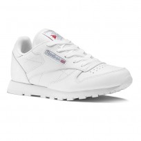 Reebok Classic Leather Shoes For Kids White (612VPZAE)