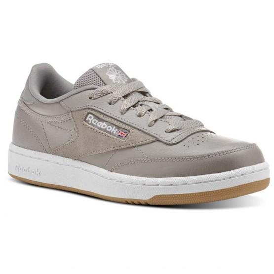 Reebok Club C 85 Shoes Kids Powder Grey/White/Washed Blue (618HIAWV)