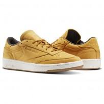 Reebok Club C 85 Shoes Mens Golden Wheat/Urban Grey/Chalk-Gum (621JGYVW)