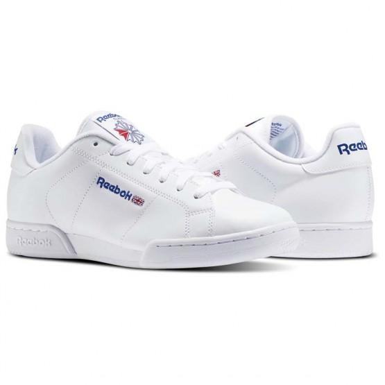 Reebok NPC II Shoes For Men White (625AHYUC)