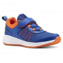 Reebok Road Supreme Running Shoes Boys Coll Royal/Bright Lava/Wht/Black (628PLZXE)