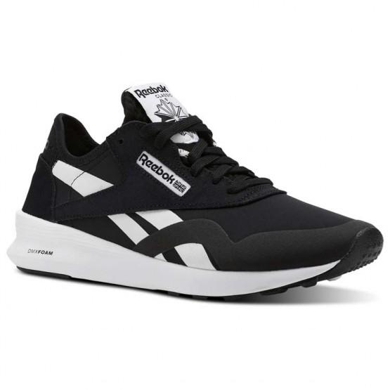 Reebok Classic Nylon Shoes Womens Og Blocking-Black/Coal/Chalk/Fierce Gold/Wht (629KAMBU)