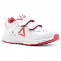 Reebok ALMOTIO 4.0 Running Shoes For Girls White/Pink/Silver (629RXWBJ)