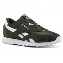 Reebok Classic Nylon Shoes For Kids Dark/White (630TQUGS)