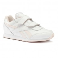 Reebok Royal Classic Jogger Shoes Boys White/Pale Pink (636ZGWKA)