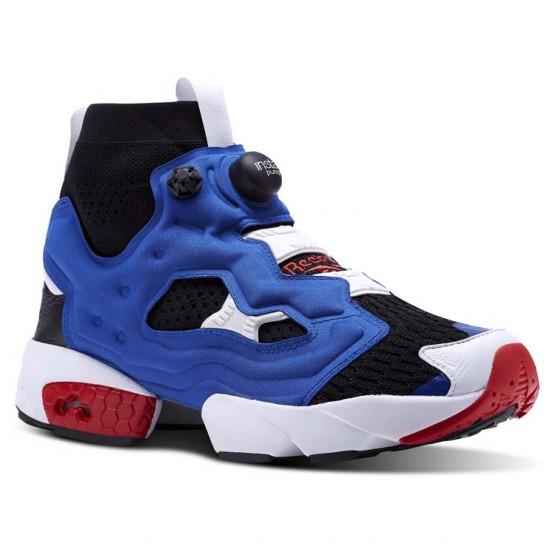 Reebok InstaPump Fury Shoes For Men Black/Royal/Red (638DRUJY)