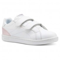 Reebok Royal Comp Shoes For Girls White/Pink/Silver (643MQRLZ)