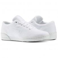 Reebok Workout Clean Shoes Mens White/Meteor Grey (645ANCPF)