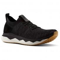 Reebok Floatride RS ULTK Lifestyle Shoes Mens Black/Ash Grey/Coal/Gum (646ANQVW)