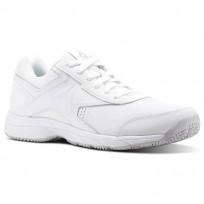 Reebok Walk Walking Shoes For Men White/Grey (649VEFLM)