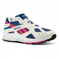 Reebok Aztrek Shoes Mens Og-Chalk/Collegiate Royal/Bright Rose/White (655RGWAY)