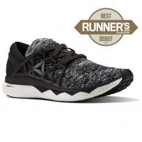 Reebok Floatride Run Running Shoes Mens Black/Coal/White (657FUXNP)