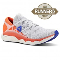 Reebok Floatride Run Running Shoes Mens Spirit White/Cloud Grey/Atomic Red/Blue Move (657GTJSM)