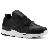 Reebok Classic Leather Shoes Mens Og-Black/White (657PGDWE)