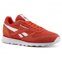 Reebok Classic Leather Shoes For Men White (657YHCAE)