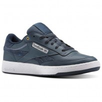 Reebok Revenge Plus Shoes Mens Mc-Deep Sea/Mt Fuji/White (660BTCHR)