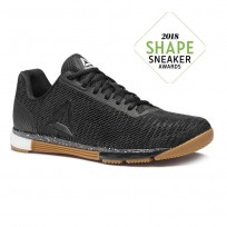 Reebok Speed Training Shoes Mens Black/Reebok Rubber Gum/White (665BJNOS)